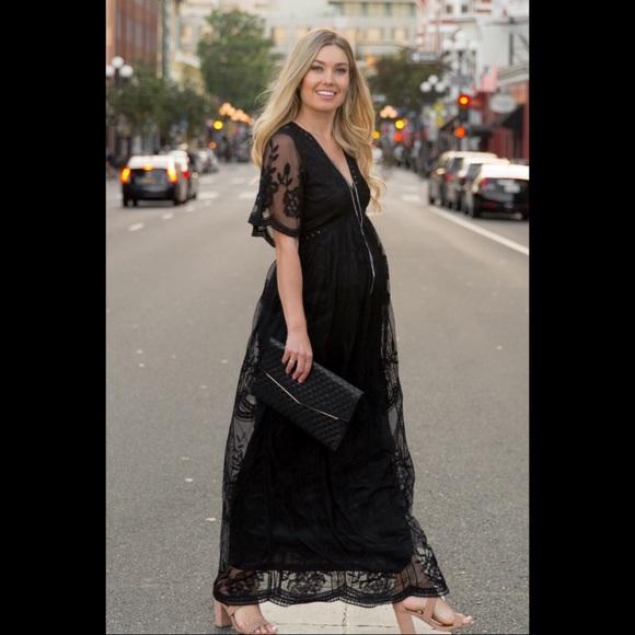 71816df05ac2a Pinkblush Dresses | Nwt Black Lace Formal Maternity Dress | Poshmark